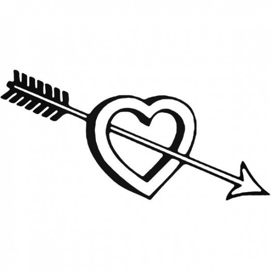 Heart And Arrow Decal Sticker