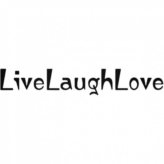 Live Laugh Love Text Decal...