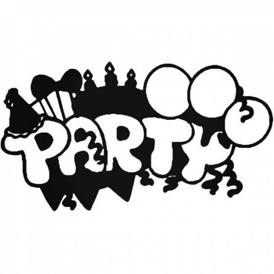 Party Decal Sticker