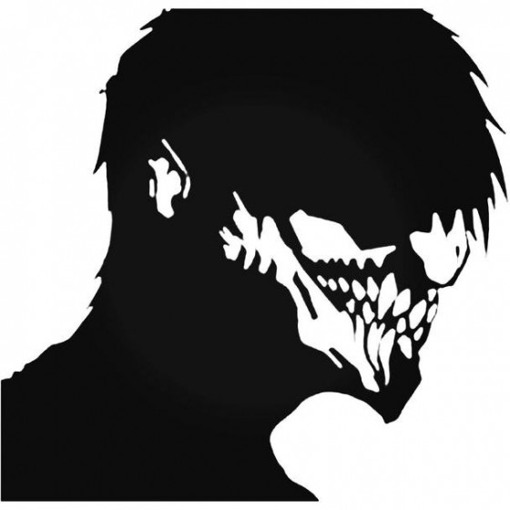 Zombie Face Decal Sticker