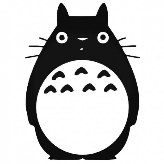 Totoro Anime 2 Decal Sticker