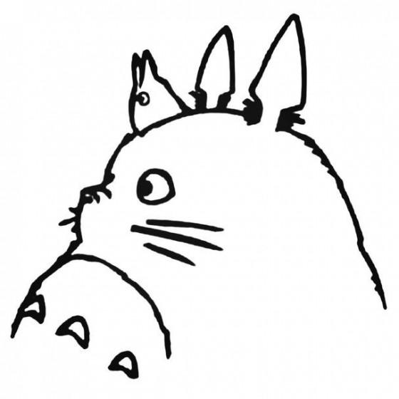 Totoro Anime 8 Decal Sticker
