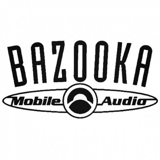 Bazooka Audio Decal Sticker