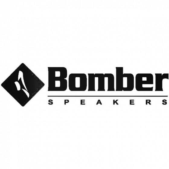 Bomber Speakers Decal Sticker