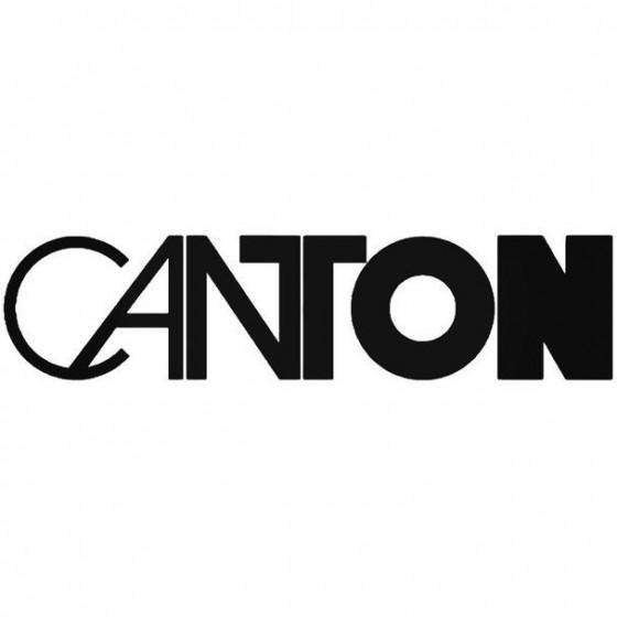Canton Audio Vinyl Decal...
