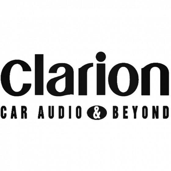 Clarion Audio Decal Sticker
