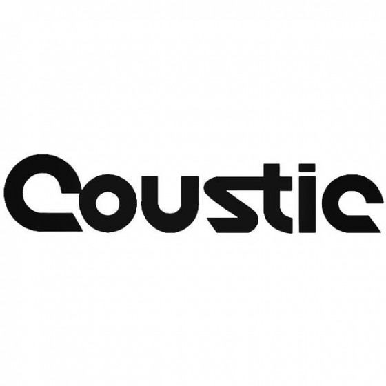 Coustic Audio Style 2 Decal...