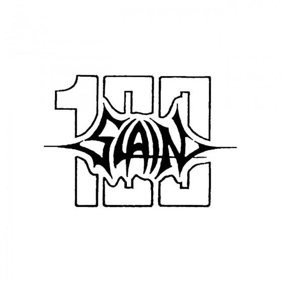 100 Slainband Logo Vinyl Decal