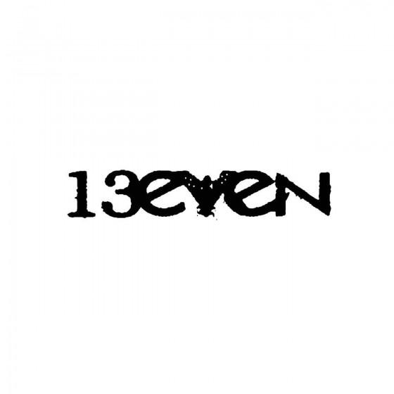 13evenband Logo Vinyl Decal