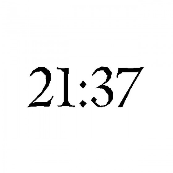 21 37band Logo Vinyl Decal