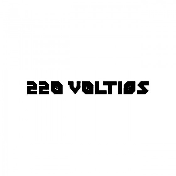 220 Voltiosband Logo Vinyl...