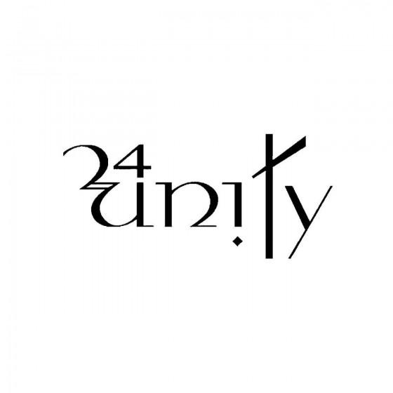 24unityband Logo Vinyl Decal