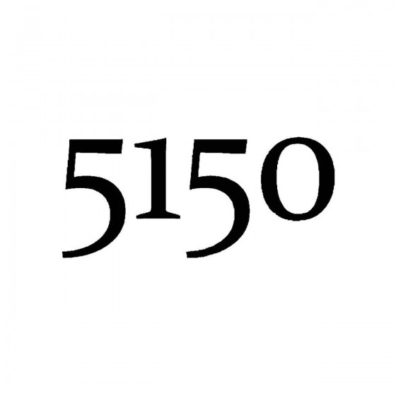5150band Logo Vinyl Decal