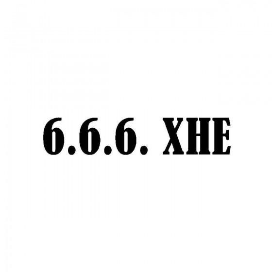 666 Xheband Logo Vinyl Decal