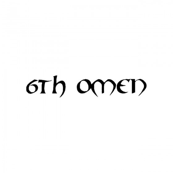 6th Omenband Logo Vinyl Decal