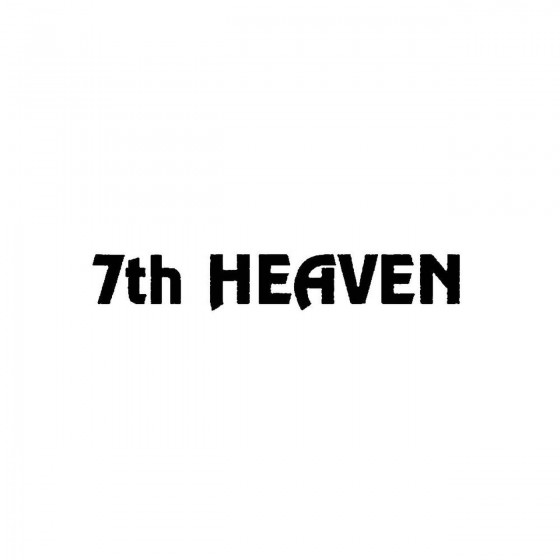 7th Heavenband Logo Vinyl...