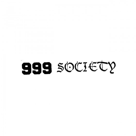 999 Societyband Logo Vinyl...