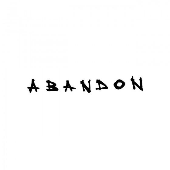 Abandon 2band Logo Vinyl Decal