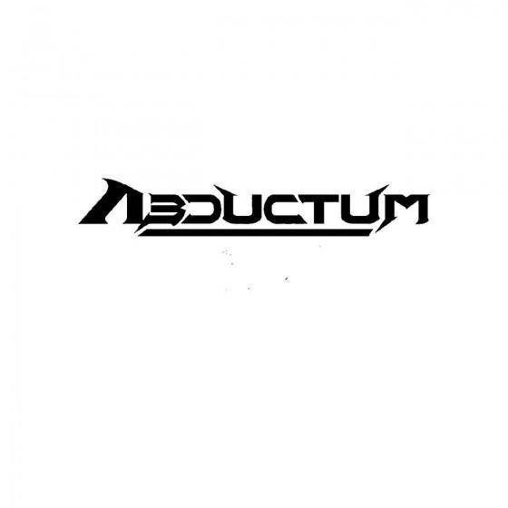 Abductumband Logo Vinyl Decal