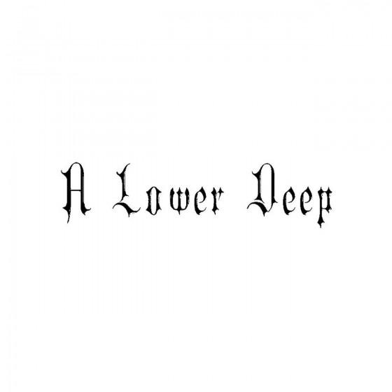 A Lower Deepband Logo Vinyl...