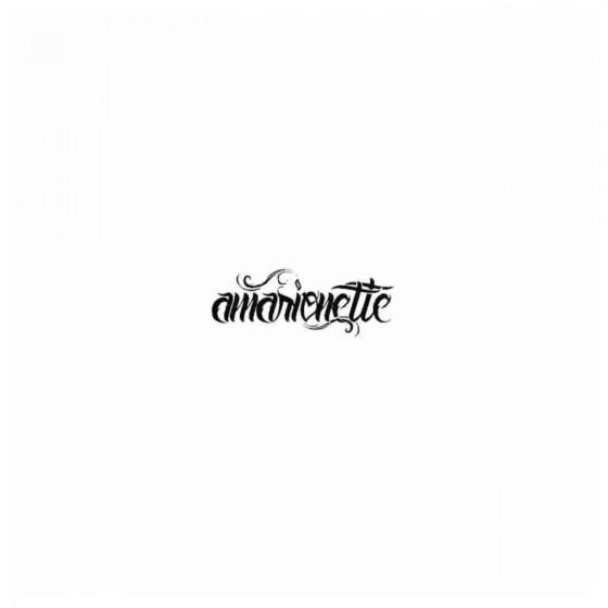 Amarionette Band Decal Sticker