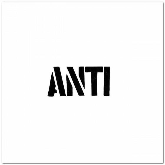Anti Rock Band Logo Vinyl...