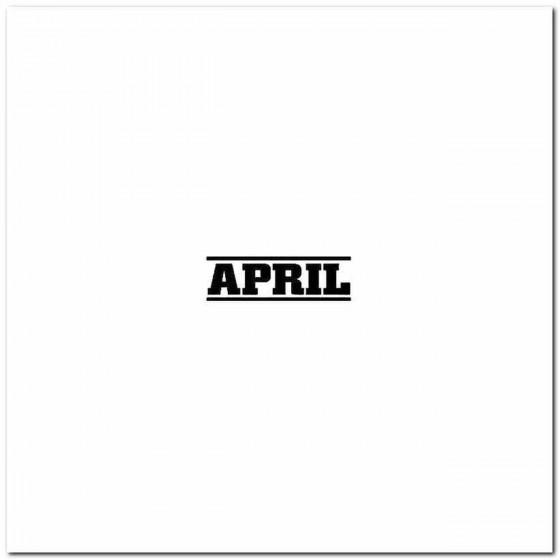 April Vinyl Band Logo Vinyl...