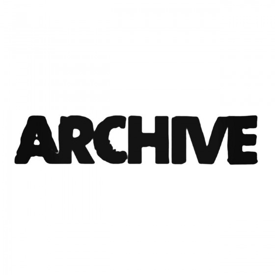 Archive Decal Sticker