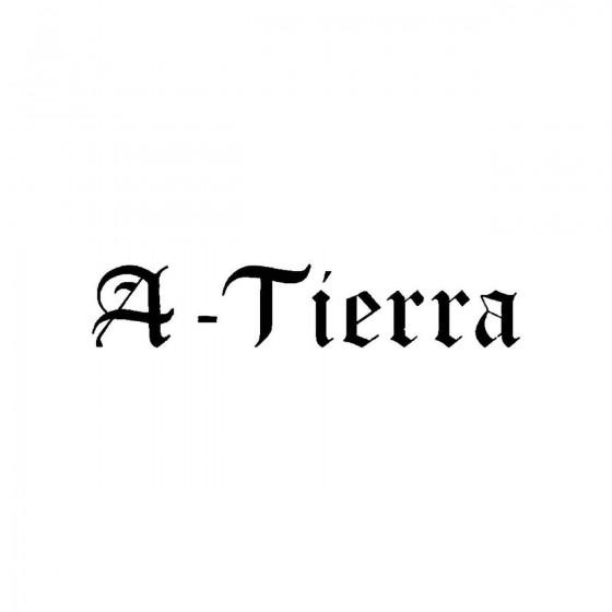 A Tierraband Logo Vinyl Decal