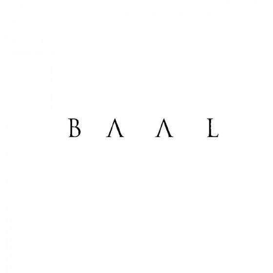 Baalband Logo Vinyl Decal