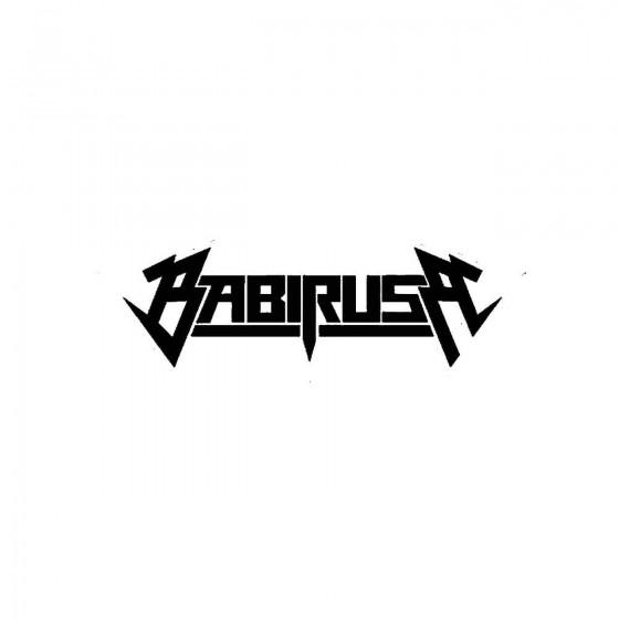 Babirusaband Logo Vinyl Decal