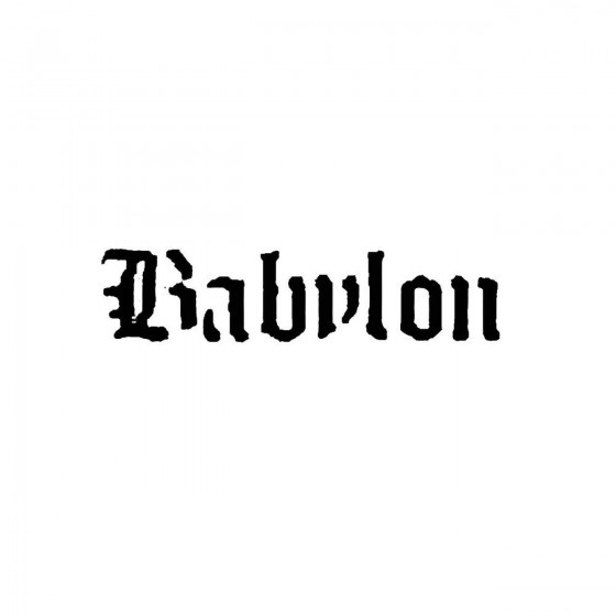 Babylon 2band Logo Vinyl Decal