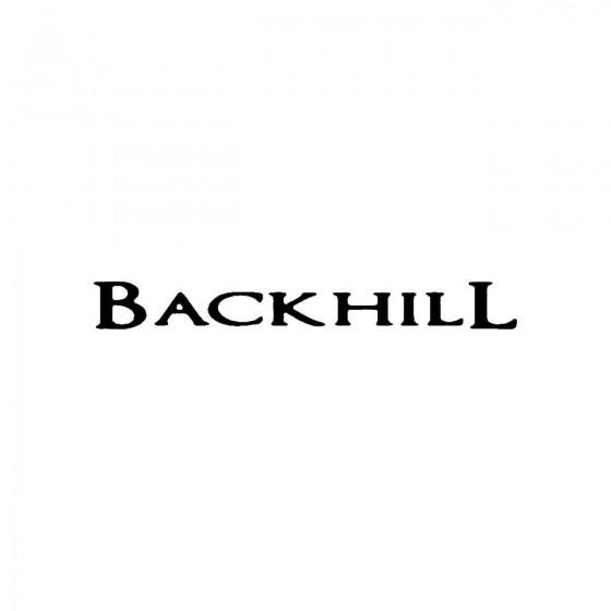 Backhillband Logo Vinyl Decal