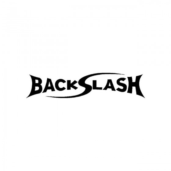 Backslashband Logo Vinyl Decal
