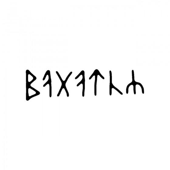 Bagaturband Logo Vinyl Decal