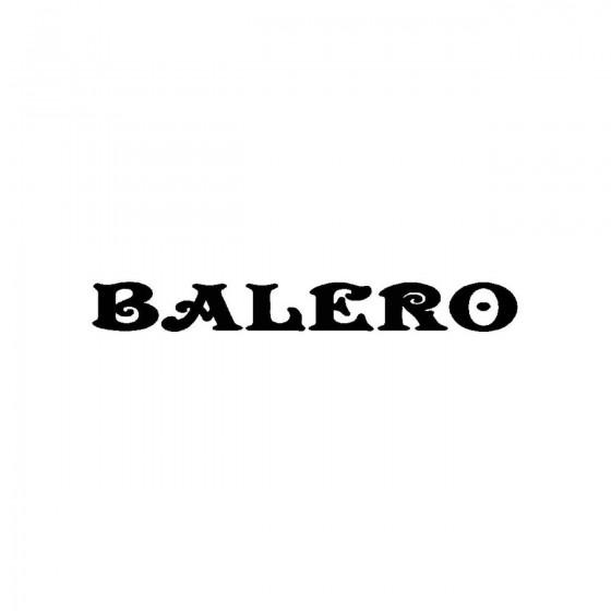 Baleroband Logo Vinyl Decal