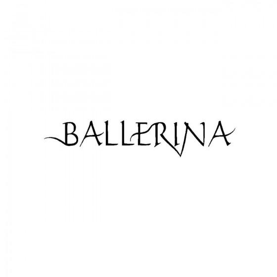 Ballerinaband Logo Vinyl Decal
