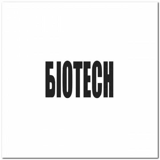 Biotech Rock Logo Decal...