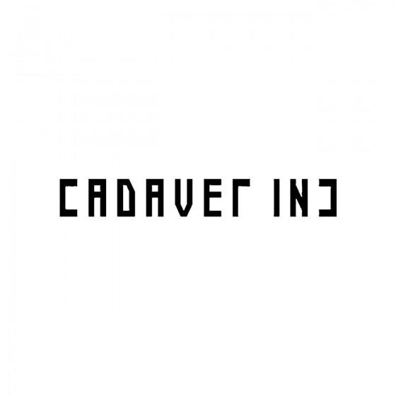 Cadaver Incband Logo Vinyl...
