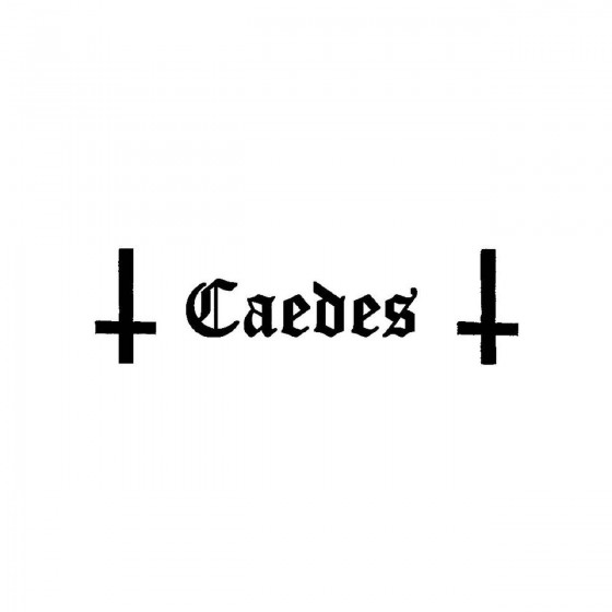 Caedes 5band Logo Vinyl Decal