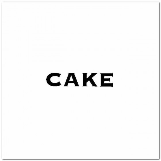 Cake Logo Vinyl Band Logo...