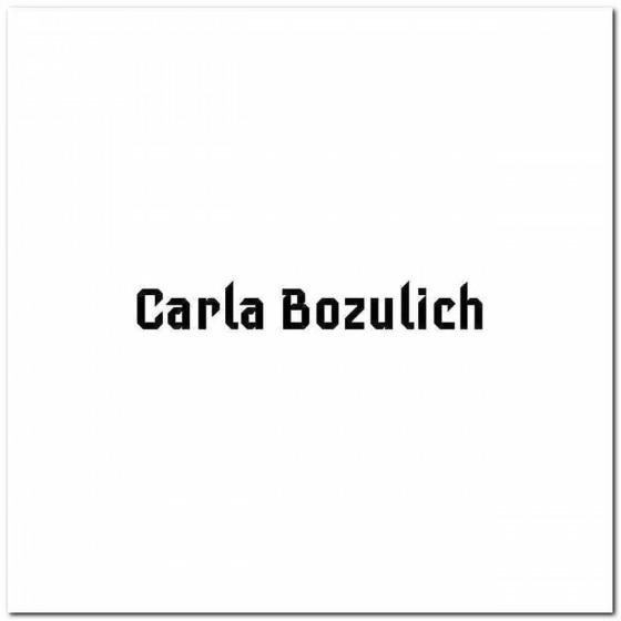 Carla Bozulich Logo Vinyl...