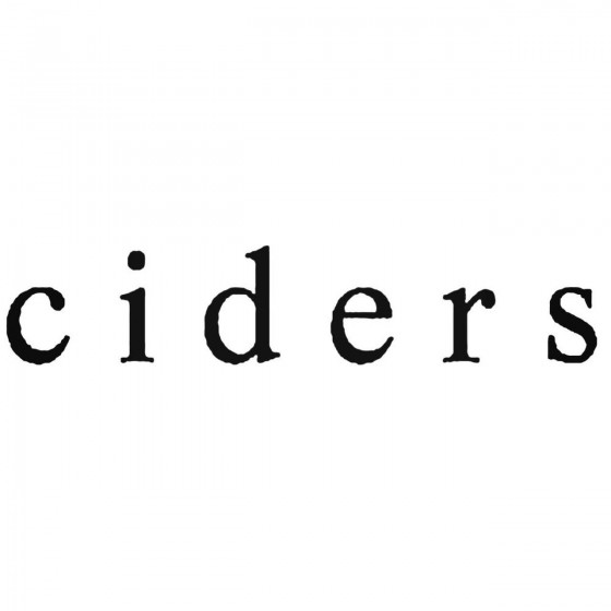 Ciders Band Decal Sticker