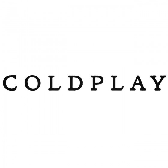 Coldplay Band Decal Sticker