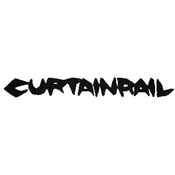 Curtainrail Band Decal Sticker