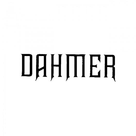 Dahmer 2band Logo Vinyl Decal