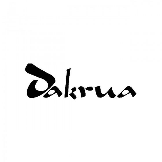 Dakruaband Logo Vinyl Decal
