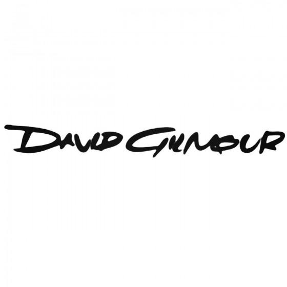 David Gilmour Decal Sticker