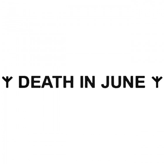 Death In June Band Decal...