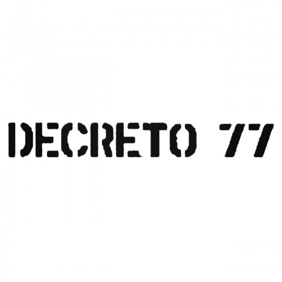 Decreto Band Decal Sticker